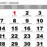 Kalendarium 2014 w formatach EPS, PDF, CDR do pobrania