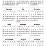 Kalendarium 2016 w formatach EPS, PDF, CDR do pobrania