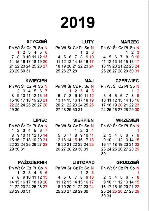 kalendarium 2019 cdr eps pdf